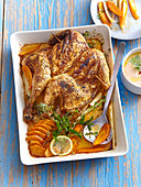 Chicken with paprika crust and dip