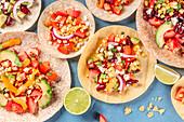 Vegetarische Tortillas und Tacos (Mexiko)