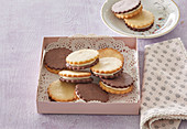 Biscuits with marzipan cream
