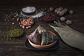 Traditional Chinese rice dumplings called Zongzi (for the traditional Dragon boat festival)