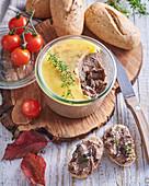Homemade mushroom pâté