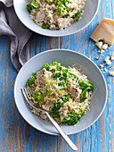 Herb chicken risotto