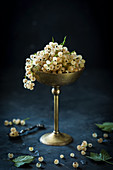 White currants in a goblet