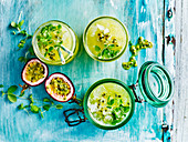 Passionfruit and pineapple detox spritzer
