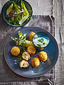 Fish croquettes with corn flakes