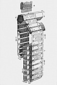 Jacquard punched-card apparatus.
