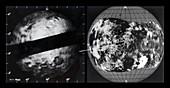 Radar map of Venus, 1973