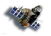 Venera 4 lander and service craft, illustration