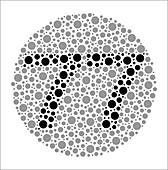 Colour blindness test chart, illustration