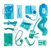 Military medical kit, X-ray