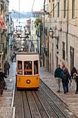 Bica street funicular, Lisbon, Portugal