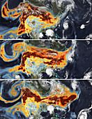 Aerosols from US Pacific Coast wildfires, September 2020