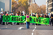 Extinction Rebellion protest, London, UK