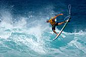 Surfer, Pipeline Beach, North Shore of Oahu, Hawaii, USA