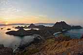 Padar Island at sunset, Komodo National Park, Indonesia