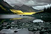 Medicine Lake, Canadian Rockies, Alberta, Canada