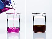 Oxidation of toluene by potassium permanganate