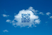 QR code on a cloud