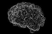 Brain neural network, illustration
