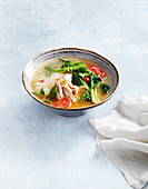 Vegie-packed chicken noodle soup
