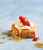 Spiced sweet potato scones with ricotta and strawberries