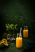 Freshly pressed orange and lime juice