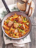 Pork and white cabbage stew Bulgarian style