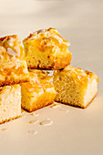Tangerine and almond cake squares