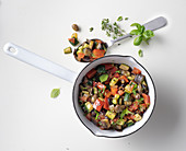 Ratatouille sauce with olives