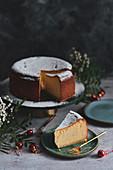 Christmas cheesecake on a crispy base