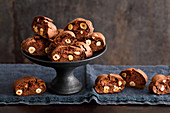 Chocolate and hazelnut cantuccini