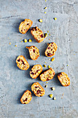 Sugar-free pistachio and cranberry cantuccini