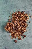 Christmas granola with quinoa crunch (sugar free)