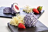 Elderberry and strawberry bites
