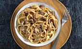 Tagliatelle with a porcini mushroom sauce