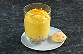 Orange mousse with amaretti