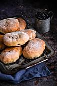 Vegan blueberry buns