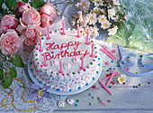 Geburtstagstorte mit neun Kerzen