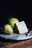 Pears and blue cheese