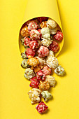 Tasty colorful popcorn