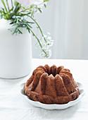 A vanilla Bundt cake