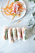 Summer rolls filled with vegetables