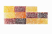 Various types of fruit leather