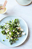 Kale and cauliflower salad with peas