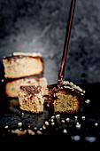 Hazelnut cake with brittle