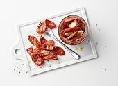 Tomato confit with garlic and oregano