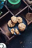 Coconut oats jaggery cookies