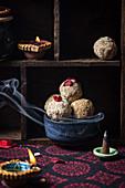 Roasted gram jaggery vegan ladoo for Diwali