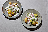 Spring soused herring with potatoes