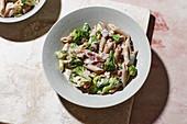 Quick ham and broccoli pasta